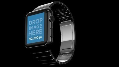 Video of a Floating Smartwatch in a Black Room a16042