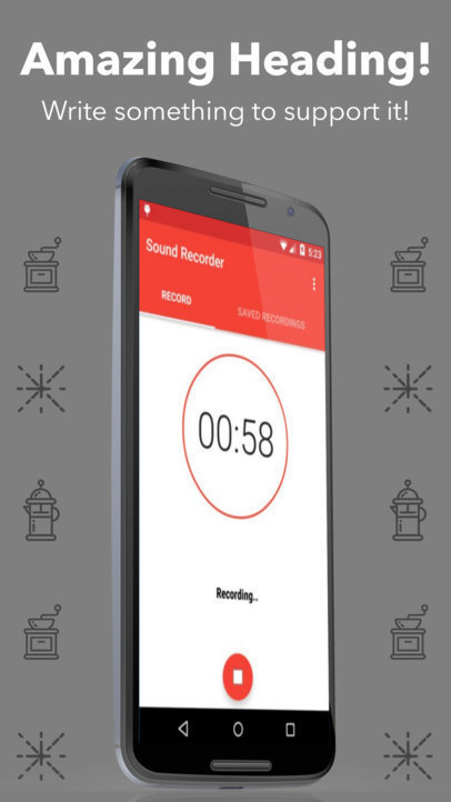 Android Screenshot Generator Nexus Phone in Portrait Position a16015