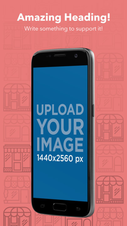Portrait Position Floating Samsung Galaxy Android Screenshot Generator a16012