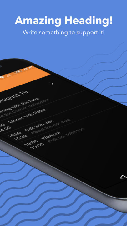 Cropped Black Samsung Galaxy Google Play Screenshot Builder Angled in Portrait Position a16011