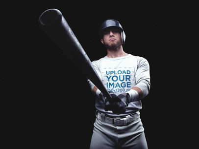 Baseball Uniform Builder - Player Showing the Bat
