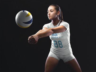 Volleyball Jersey Maker - Girl Receiving the Ball