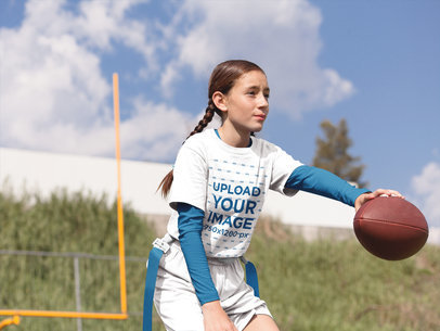 Custom Football Jerseys - Girl Starting the Game a16514