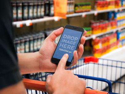 iPhone 6 At Supermarket Shopping