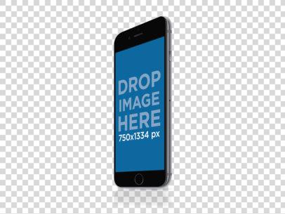Angled Black iPhone 6