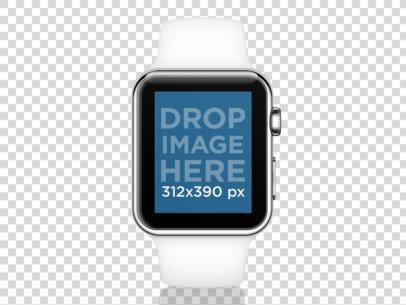 White Apple Watch Sport
