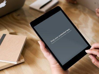iPad Black Mini Vertical Office