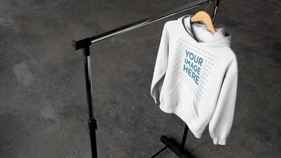 Stop Motion Mockup Of Pullover Hoodies On Hangers a13146