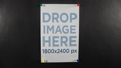 Poster Rolling Over Itself Hanging From A Wall Stop Motion Mockup b13650