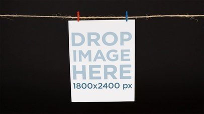 Poster Falling Down From String Stop Motion a13635