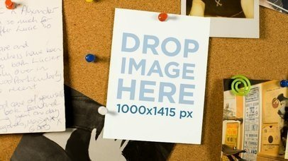 Video Of A Small Flyer In A Cork Wall Mockup a13839