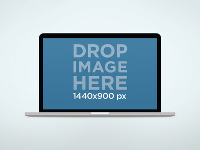 MacBook Air Mockup On Light Background