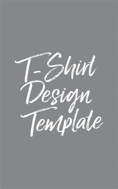 Script & Lettering T-Shirt Design Template 343