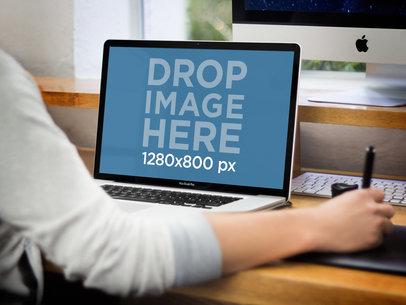 MacBook Pro Designer Working