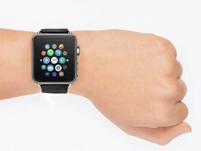 Black Apple Watch Over White Background App Demo Video