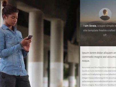 Girl Standing Underneath a Bridge iPhone App Demo Video 8327a