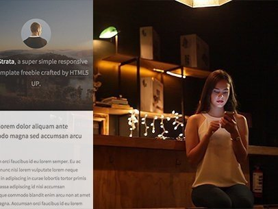 Young Woman Sitting at a Bar Counter App Demo Video a8071