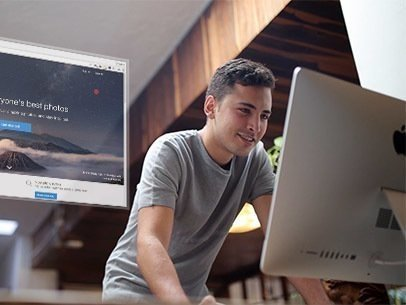 App Demo Video of a Young Man at School Using an iMac 8872a