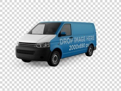 Front View Van Car Wrap Over a PNG Background 11646