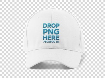 Front View of a Dad Hat PNG Mockup a11704