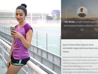 Woman Training Using Her iPhone 6 App Demo Video 9852a