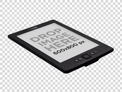 Amazon Kindle Mockup Lying Over a Surface PNG Mockup a11816 print