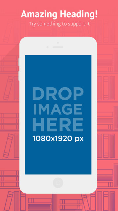 Flat White iPhone 6s Portrait Appstore Screenshot Builder