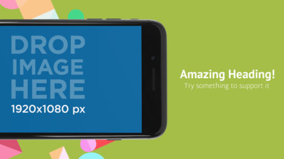 Black iPhone 7 Landscape Position Cut App Store Screenshot Maker