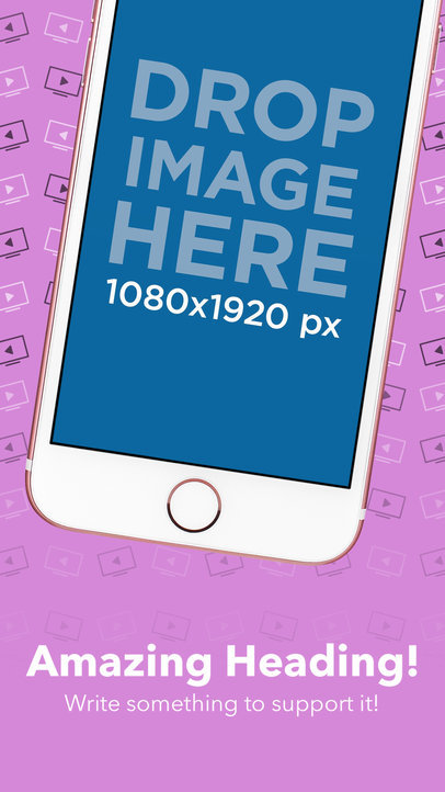 Diagonal Pink iPhone Floating iOS Screenshot Builder