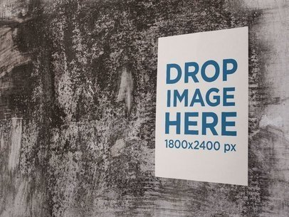 Big Poster on an Old Wall of a Building Mockup a14416